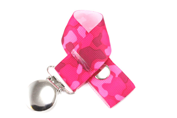 Pink Camo Pacifier Holder-Pink Camo Pacifier Holder