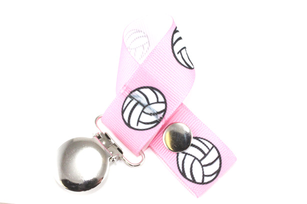 Pink Volleyball Pacifier Holder-Pink Volleyball Pacifier Holder