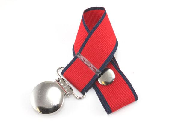 Polo Stripe Pacifier Holder-Polo Stripe Pacifier Holder