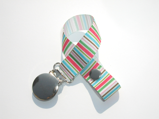 Small Candycane Stripes Pacifier Holder-Small Candycane Stripes Pacifier Holder