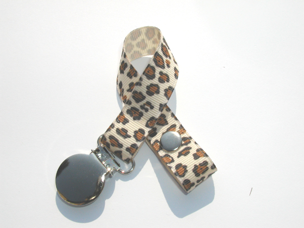 Wild Cat Ivory Pacifier Holder-Wild Cat Ivory Pacifier Holder