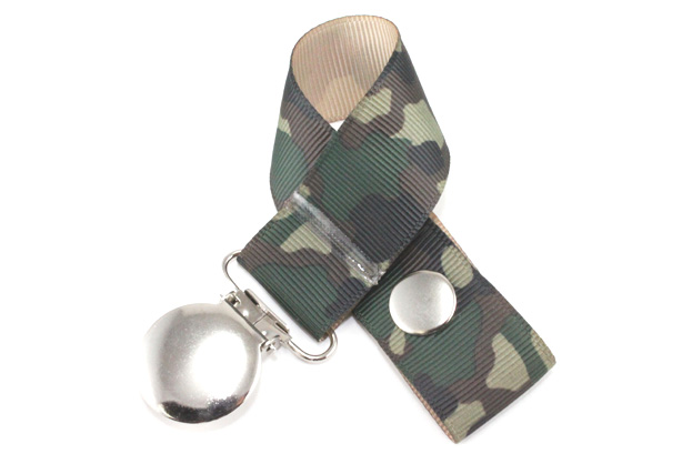 Tan Camo Pacifier Holder-Tan Camo Pacifier Holder