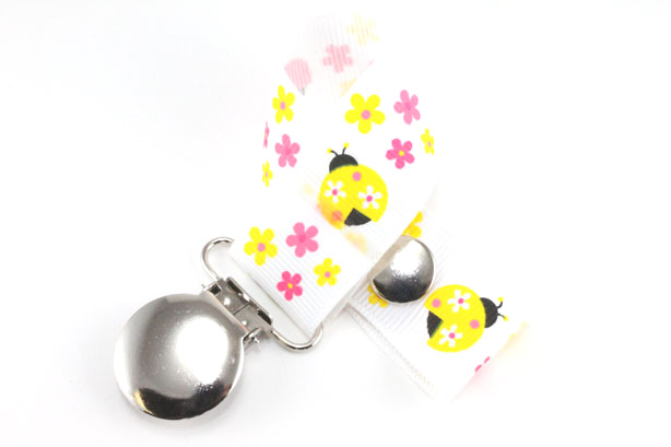 Yellow Ladybug Pacifier Holder-Yellow Ladybug Pacifier Holder